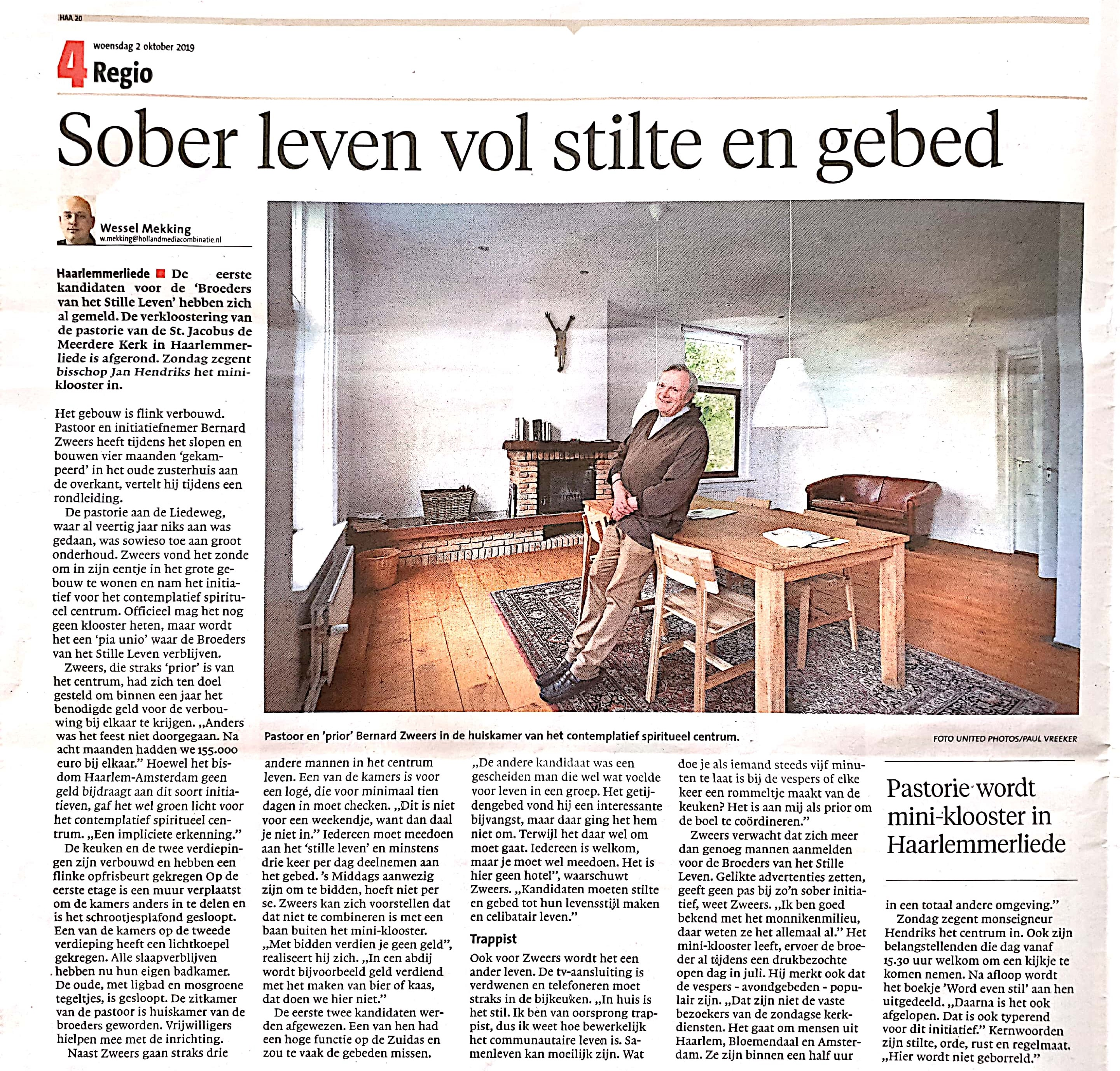 Haarlems Dagblad 01 10 2019